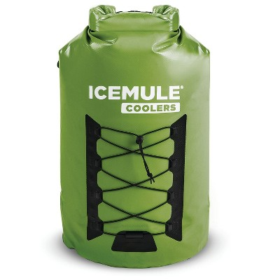 IceMule 1015-OL Pro XLarge Collapsible Portable Soft Sided Roll Top 33 Liter 24 Can Lightweight Insulated Waterproof Leak Proof Backpack Cooler Bag