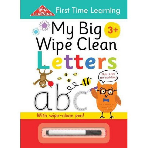 My Big Wipe Clean Letters - (First Time Learning) by  Igloobooks (Paperback) - image 1 of 1