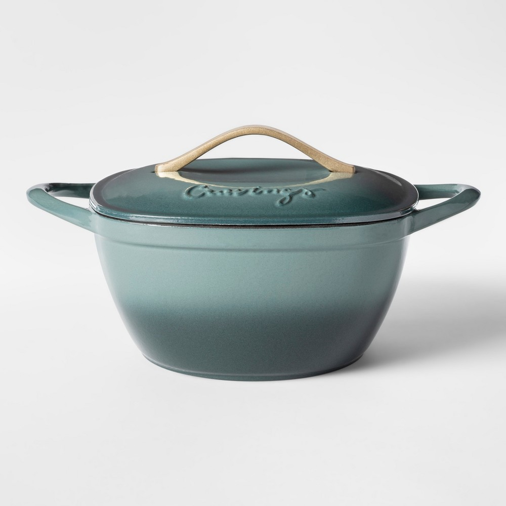 Cravings by Chrissy Teigen 5qt Cast Iron Enameled Dutch Oven with Lid, Green