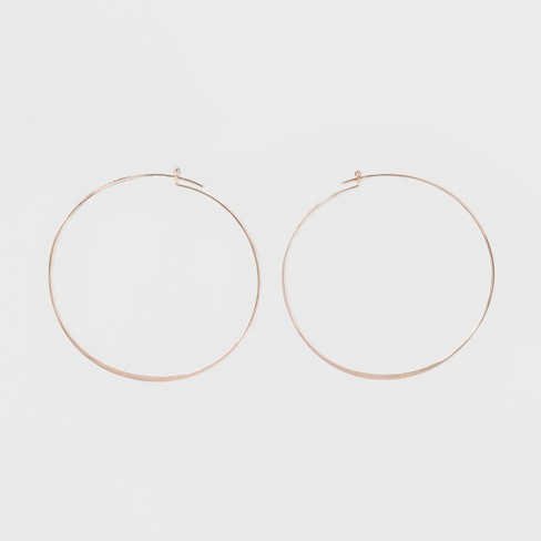 Large Thin Hoop Earrings - A New Day™ Rose Gold - image 1 of 3