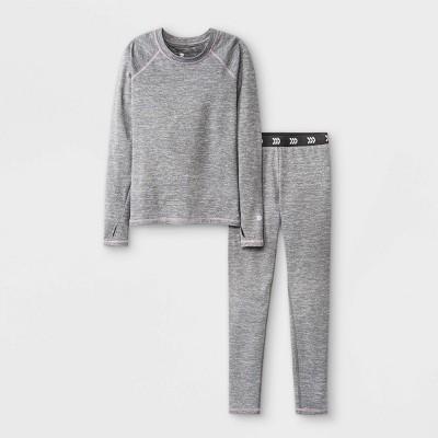 Girls' 2pk Thermal Set Underwear - All in Motion™ Gray