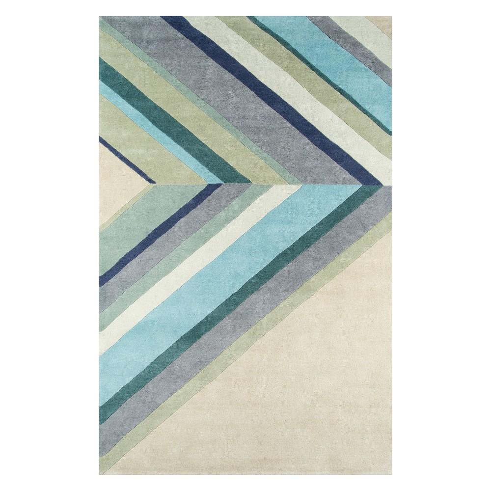 5'X8' Stripe Tufted Area Rug Blue - Novogratz By Momeni