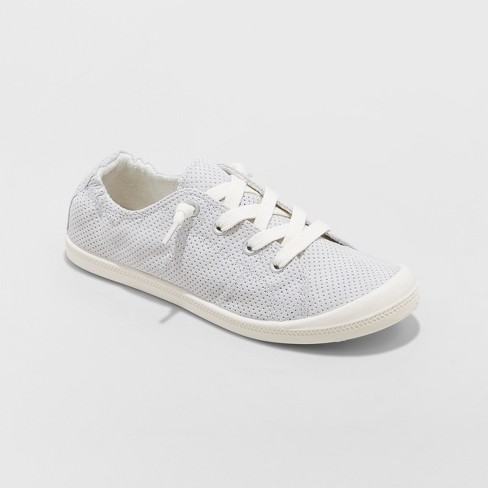 73c91639ac Women's Mad Love® Lennie Wide Width Lace-up Canvas Sneakers - Gray 11W