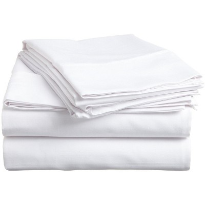 300-Thread Count Cotton Deep Pocket Waterbed Sheet Set, Queen, White - Blue Nile Mills