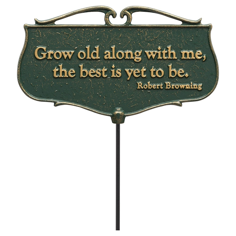 "Image of ""17"""" Freestanding Signs - Green - Whitehall Products"""