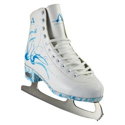American Ladies Figure Skate - White with Turquoise