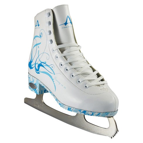 American Ladies Figure Skate - White with Turquoise - image 1 of 4