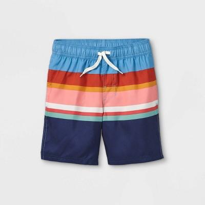 Boys' Striped Swim Shorts - Cat & Jack™ Blue