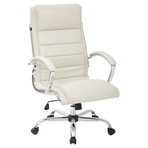 Executive Faux Leather Chair - Work Smart - image 1 of 5