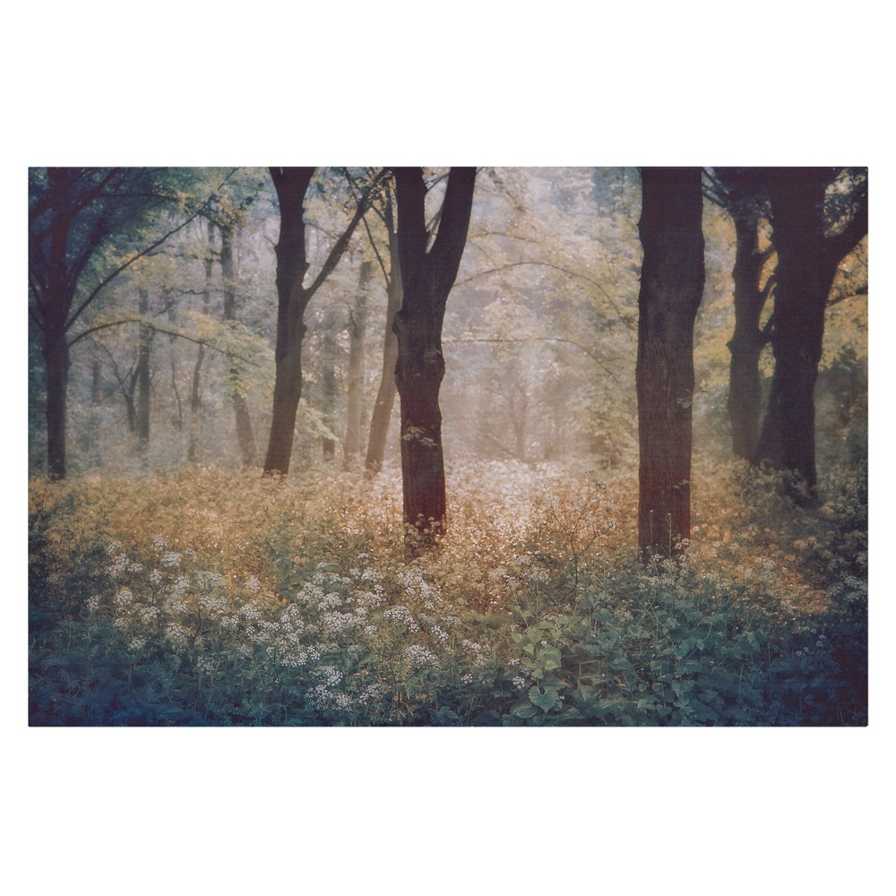 """Image of """"24""""""""x36"""""""" Meadow In The Forest Photography Canvas Art Green - Patton Wall Decor"""""""
