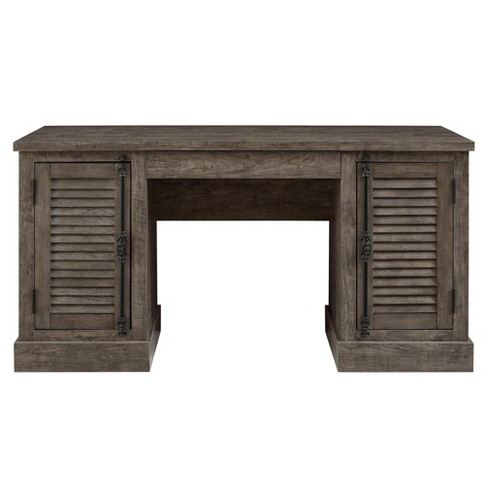 Cheshire Double Pedestal Desk - Rustic Gray - Room & Joy - image 1 of 6