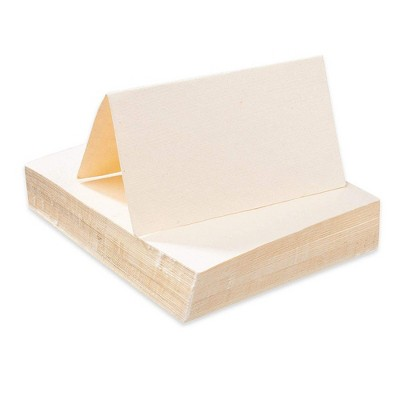 Sustainable Greetings 60-Pack Ivory Handmade Blank Seating Tent Table Number Signs Place Cards, 2 x 3.5 in