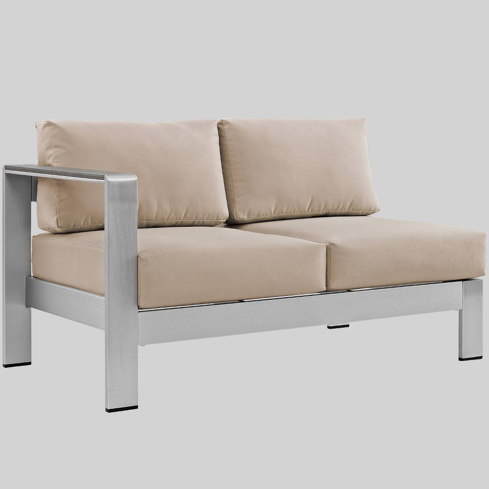 Astonishing Shore Left Arm Corner Sectional Outdoor Aluminum Loveseat Onthecornerstone Fun Painted Chair Ideas Images Onthecornerstoneorg