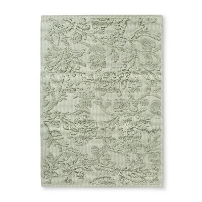 30 x21  Floral Bath Mat Light Sage Green - Threshold™