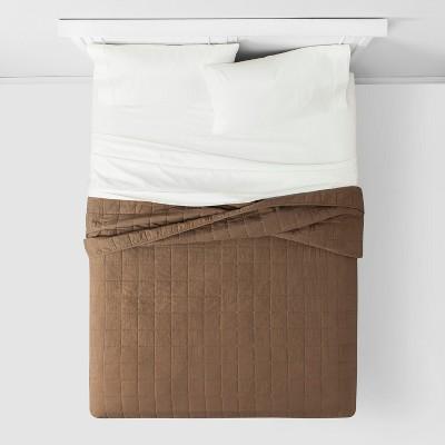 Box Stitch Flannel Quilt - Threshold™ : Target