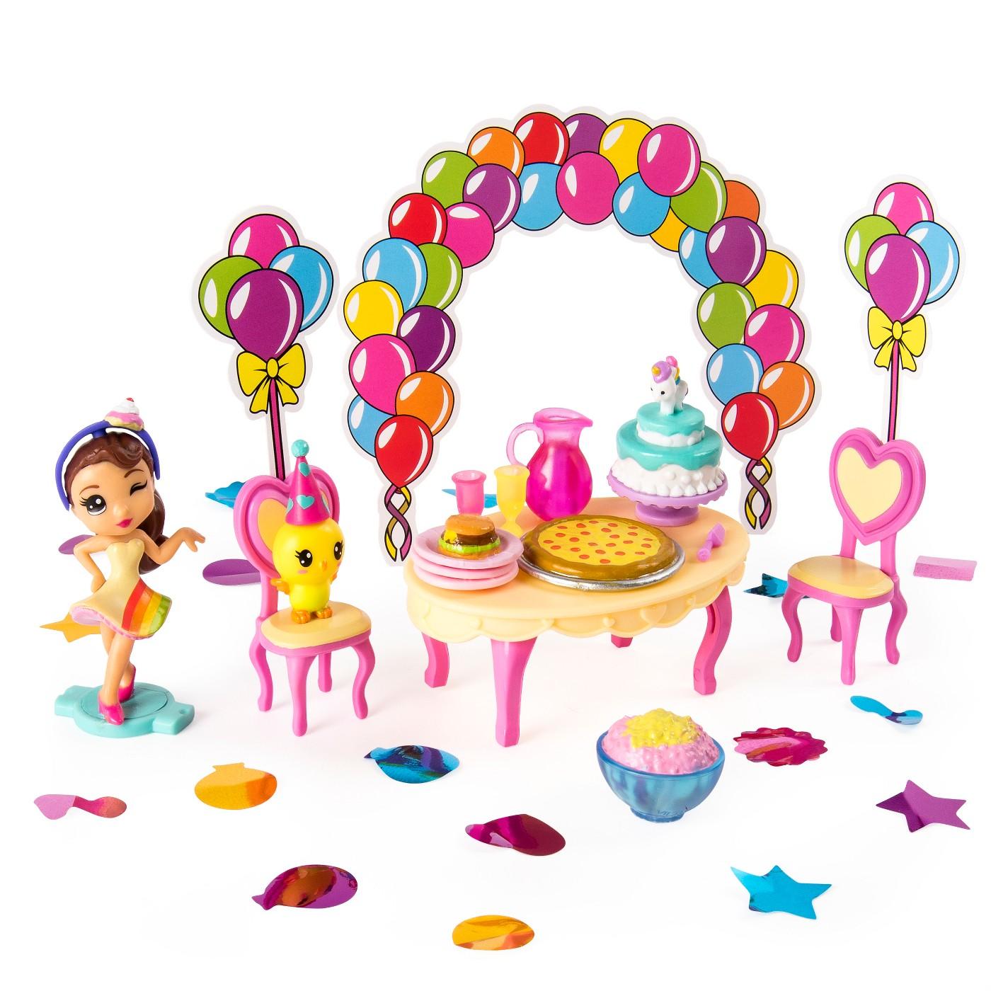 Party Popteenies Rainbow Unicorn Party Surprise Box Playset