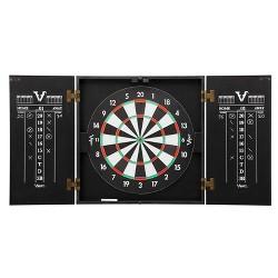 Viper Hideaway Steel Tip 2 in 1 Traditional & Baseball Dartboard Cabinet, Black