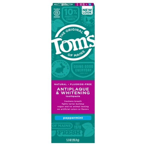 Tom's of Maine Antiplaque and Whitening Peppermint Natural Toothpaste - 5.5oz - image 1 of 4