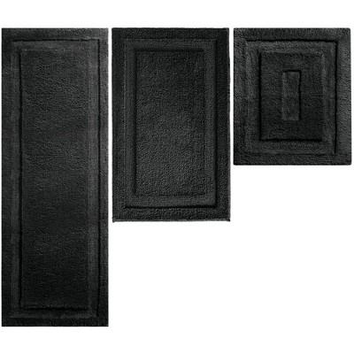 mDesign Microfiber Polyester Bathroom Spa Mat Rugs/Runner, Set of 3
