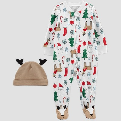 Baby Holiday Sleep N' Play - Just One You® made by carter's White/Brown/Red Newborn
