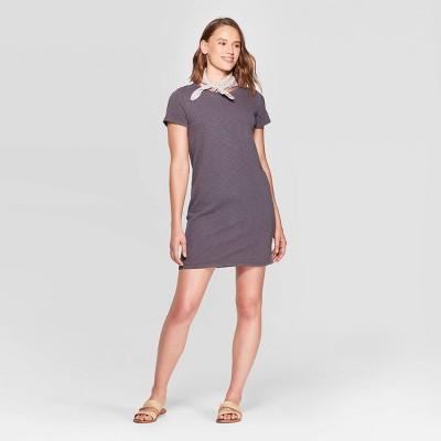 Women's Short Sleeve Crewneck T Shirt Dress   Universal Thread by Shirt Dress