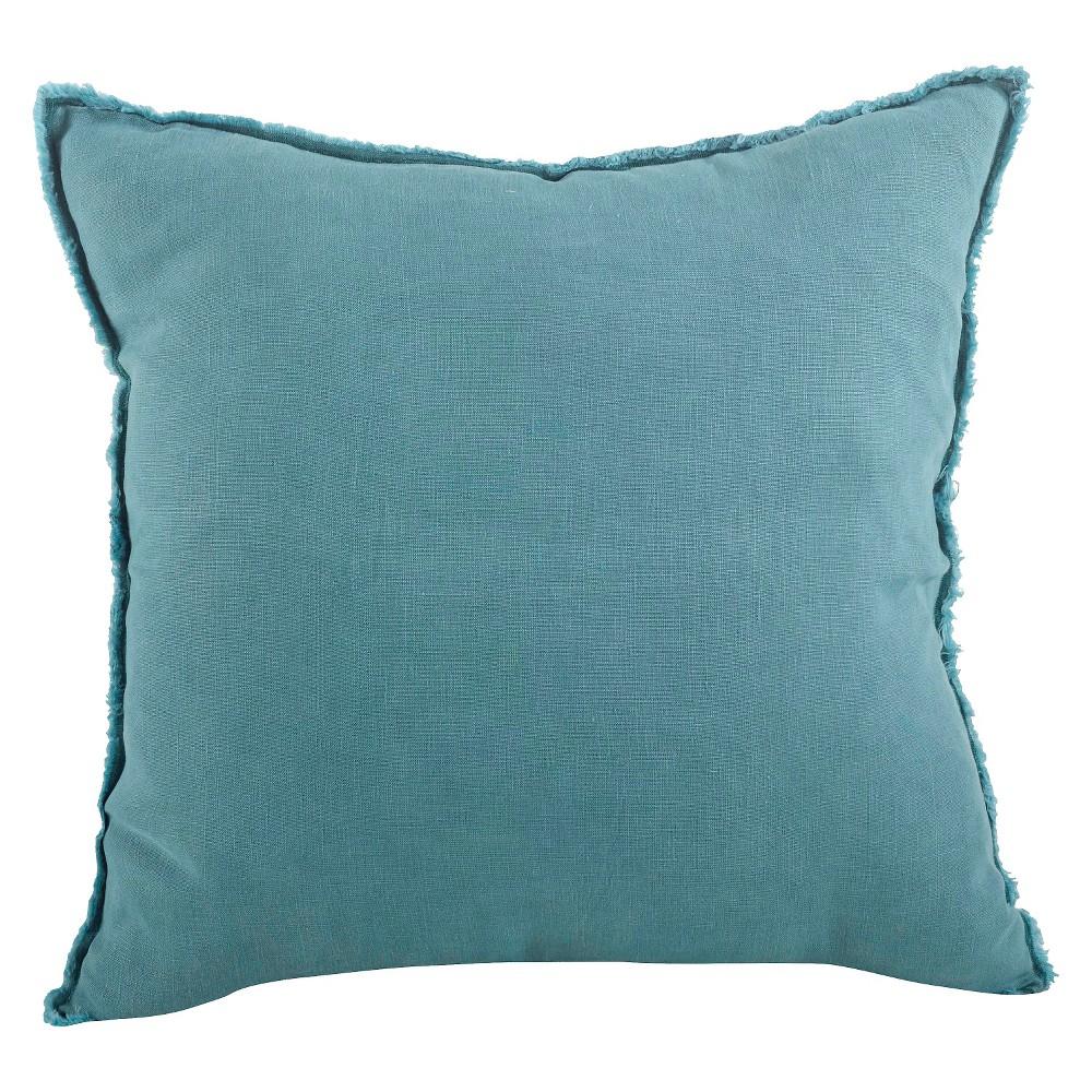 20 34 X20 34 Oversize Fringed Design Linen Square Throw Pillow Sea Green Saro Lifestyle