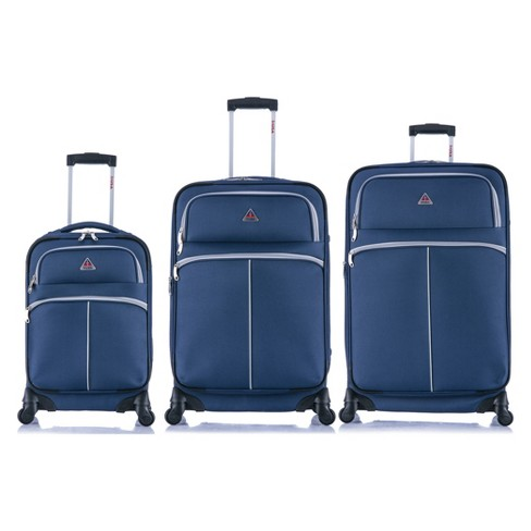 "InUSA Roller-Fi 3pc Softside Spinner Luggage Set 20""& 24""& 28"" - Blue/Gray - image 1 of 6"