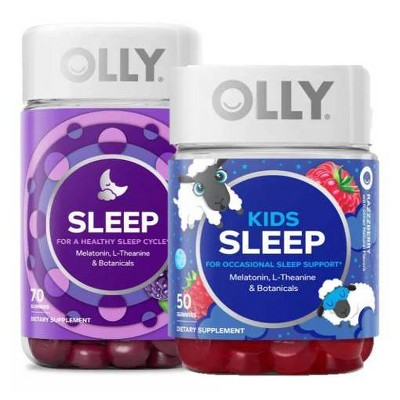 Olly Sleep Gummies Blackberry Zen And Olly Kids Sleep Gummies