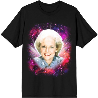 Golden Girls Space Galaxy Rose Mens  Black Graphic Tee