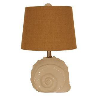Meri Conch Shell Table Lamp White  - Decor Therapy