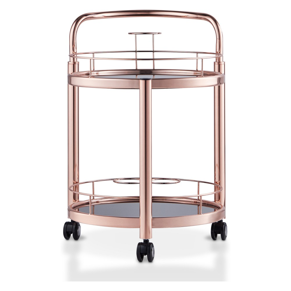 Image of Palm Contemporary Serving Cart Rose Gold - HOMES: Inside + Out, Pink