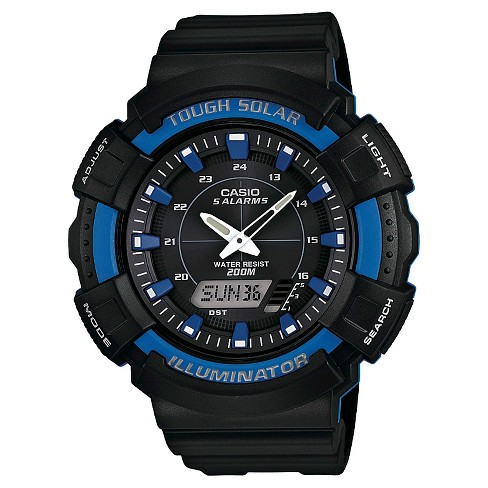 Men's Casio Solar Powered Watch - Black (ADS800WH-2A2) - image 1 of 1