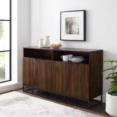 "58"" Leo Contemporary Storage Console Sideboard - Saracina Home"