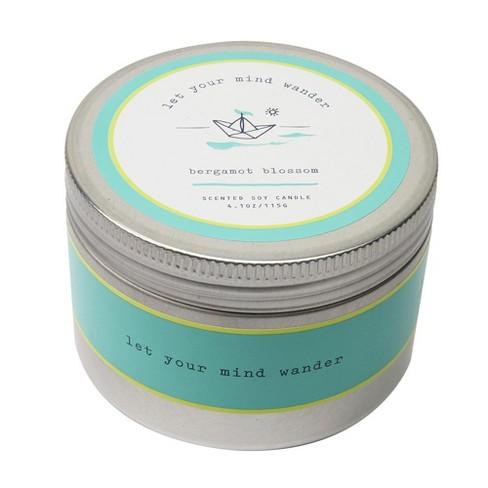4.1oz Lidded Tin Candle Bergamot Blossom - Happy Place - image 1 of 2
