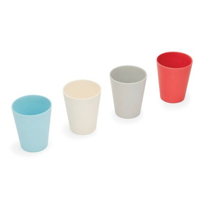8.5oz 4pk Bamboo Fiber Kids Cups - Red Rover