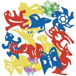 Roylco Tessellations Animal Templates, Assorted Designs, set of 12