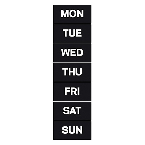 "MasterVision™ Calendar Magnetic Tape, Days Of The Week, Black/White, 2"" x 1"" - image 1 of 1"