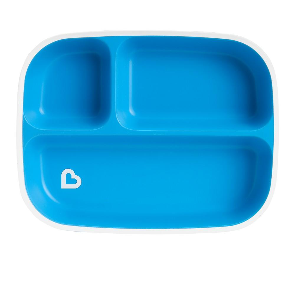Munchkin Splash Divided Plate - Blue