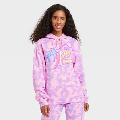 Women's Hype House Hooded Graphic Sweatshirt - Pink