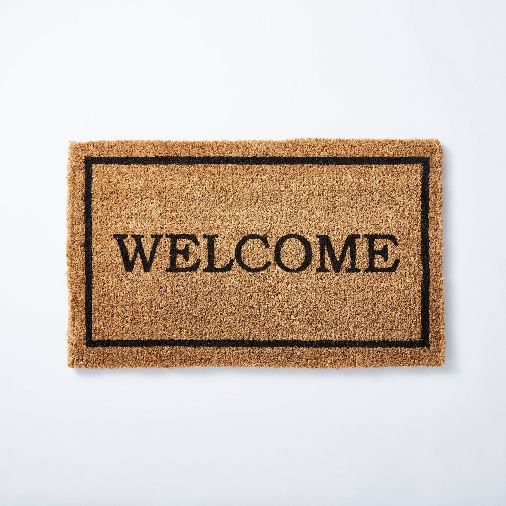 "Image of ""1'6""""x2'6"""" Welcome Doormat Natural - Threshold designed with Studio McGee"""