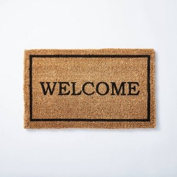 "1'6""x2'6"" Welcome Doormat Natural - Threshold™ designed with Studio McGee"