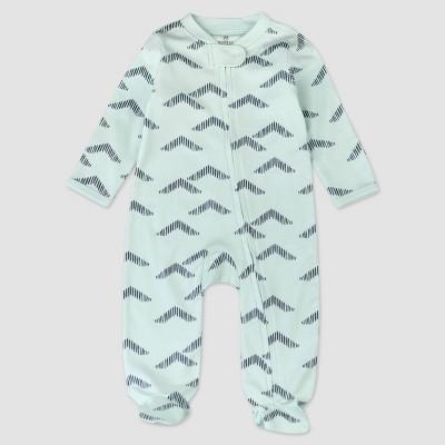 Honest Baby Boys' Organic Cotton Pyramids Whispering Sleep N' Play - Blue