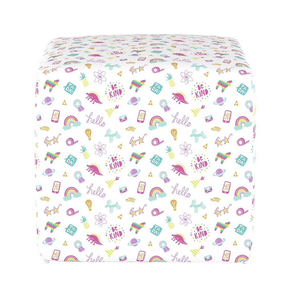 Image of Kids Cube Ottoman Sketch - Pillowfort