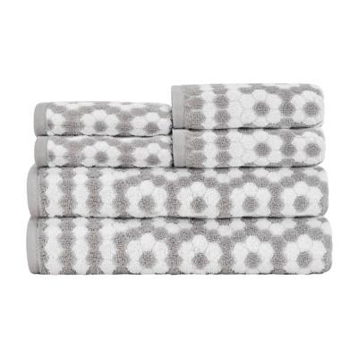 6pc Veronica Bath Towel Set Gray - Caro Home