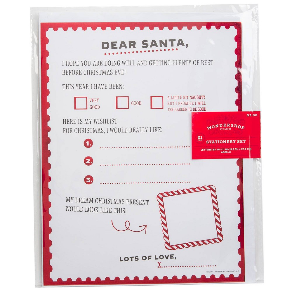Image of Dear Santa Letter Writing Craft Activity Kit