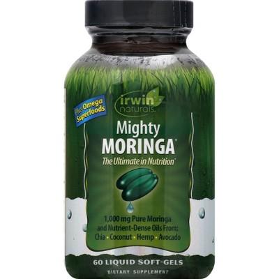 irwin naturals Mighty Moringa Dietary Supplement Liquid Softgels - 60ct