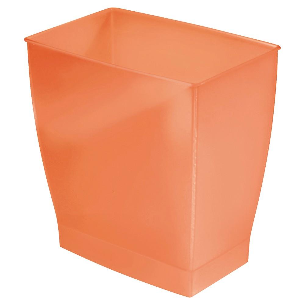 Image of InterDesign Bath & Spa Plastic Rectangular Wastebasket - Tango (11l)