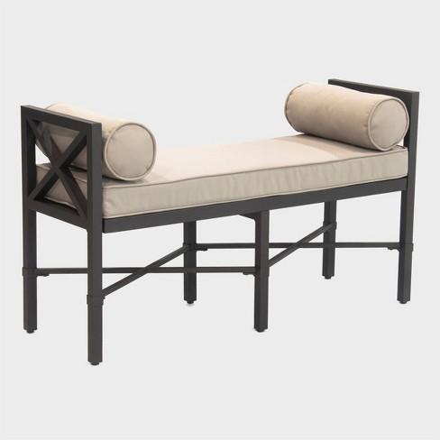 camden patio bench black leisure made