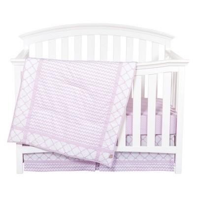 Trend Lab Orchid Bloom Crib Bedding Set - 3pc
