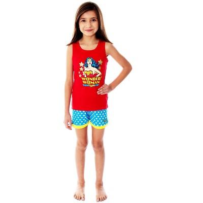 DC Comics Girls Wonder Woman Pajamas Tank Top And Shorts Pajama Set